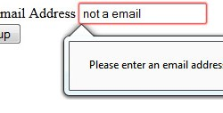 html5 email form field in Firefox