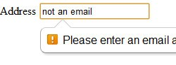 html5 email form field in Google Chrome
